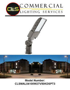 Led Area Shoebox Pole Bronze Light 70 100 150 200 300 Watts Commercial Dimmable