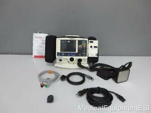 Physio Control Lifepak 20 Biphasic 3 Lead Ecg Pacing Aed Paddles And Pads