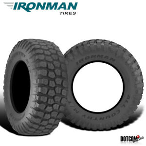 2 X New Ironman All Country M t 35 12 5 17 121q Mud Terrain Tire