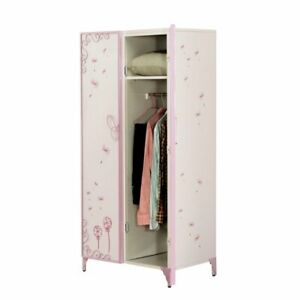 Bowery Hill Kids Wardrobe Armoire In White