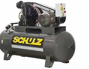 Schulz Air Compressor 10hp 3 Phase 120 Gallons Tank 40cfm 175 Psi