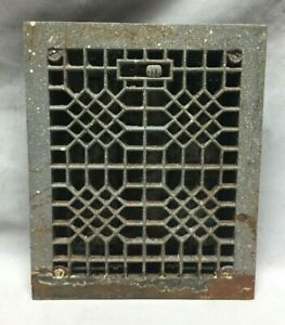 Antique Cast Iron Decorative Heat Grate Floor Register 8x10 Vintage 174 19c