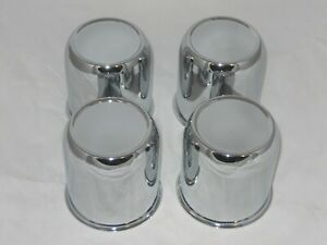 4 Cap Deal Fits 2 75 Dia Bore Wheel Rim Chrome Steel Center Caps Push Thru 1348