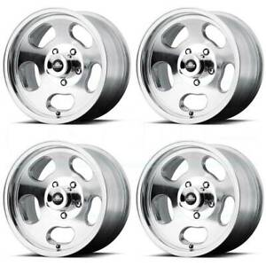 15x7 Polished Wheels American Racing Vn69 Ansen Sprint 5x4 75 5x120 65 0 Set Of