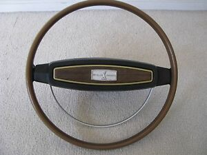 1968 Shelby Mustang Original Wood Steering Wheel With Horn Ring