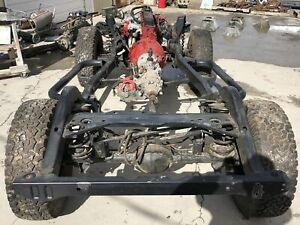 97 02 Jeep Wrangler Frame 2 5l 4 Cyl Modified Motor Mounts Tj Chassis No Rust