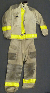 Globe Firefighter Set Jacket 42x29 Pants 34x32 Suspenders Turn Out Gear S29