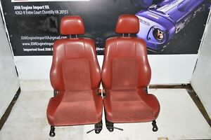 Jdm 97 01 Honda Prelude Bb6 Bb8 S spec Leather Suede Red Front Seats Railings