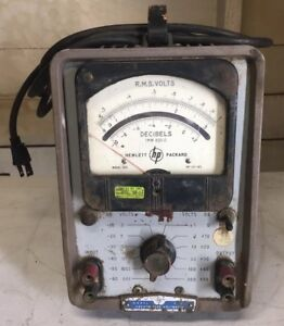 Vintage Industrial Hp Model 400l Vacuum Tube Voltmeter 115 Volts Parts Only