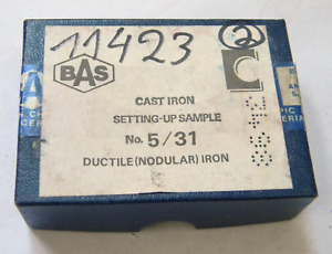 Bas Standard Reference Material Cast Iron Setting Up Sample 5 31