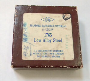 Nbs Standard Reference Material 1765 Low Alloy Steel Nist