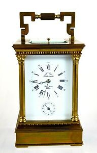 Stunning L Epee 8 Day Repeater Alarm Grande Carriage Clock Working Order