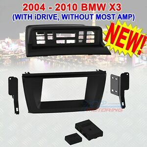 2004 10 Bmw X3 Double Din Installation Kit With Idrive Without Most Amp New
