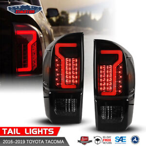 Oe Factory Fit For 16 19 Toyota Tacoma Led Drl Light Bar Tail Lights Smoke
