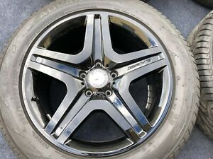 4 Authentic Mercedes Benz G550 G63 Wheels Tires Oem Factory Black G Class