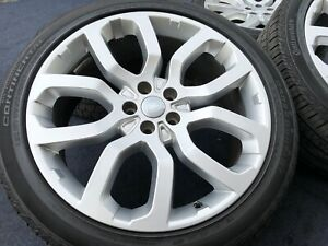 Genuine Range Rover Wheels Tires Style 6 22 Inch Rare Continental Tires Oem Real