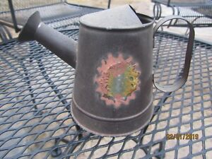 Vintage Metal 5 Watering Can With Spout Great For Indoor Plants