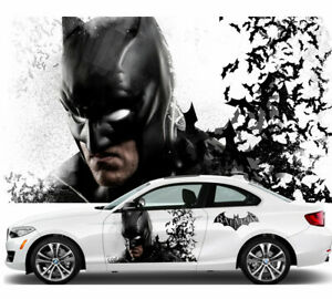 Batman Car Door Body Graphics Vinyl Sticker Decal Comic Both Side Fit White Car