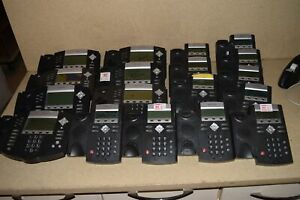Polycom Soundpoint 11x Ip335 7x Ip650 Lot Of 18 Voip Telephones 3w