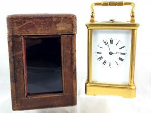19th Century E Maurice Co Repeating Carriage Clock With Travel Case