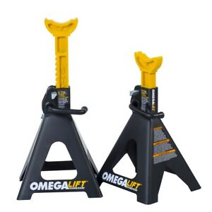 6 Ton Double Locking Ratchet Style Jack Stands Ome32068 Brand New