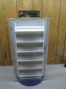 Pre owned Acrylic Jewelry Display Case Locking Rotating Countertop Display Case