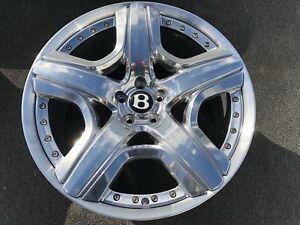 Bentley 21 Inch Wheel Rim Oem Factory Flying Spur Gt Gtc 3w0601025 Mulliner Rare