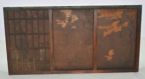 Vintage Printers Letterpress Type Drawer Full Size Modified California