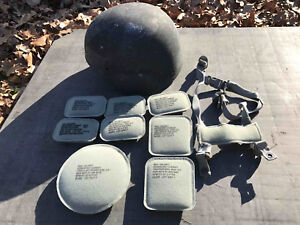 FIELDED ARMOR SOURCE ACH HELMET LARGE W PADS AOR1 AOR2 3A BALLISTIC NAVY
