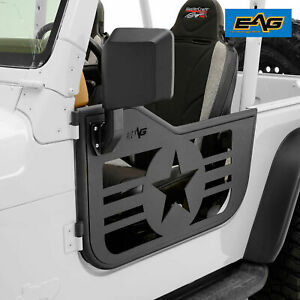 Eag 97 06 Jeep Wrangler Tj Military Star 2 Tubular Doors With Side View Mirrors