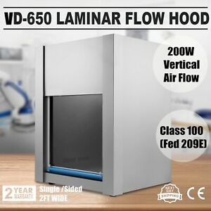 Laminar Flow Hood Air Flow Vd650 Clean Bench Chemical Experiment Pharmacy 200w