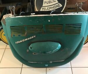 Rare Vintage 1970 S Vw Volkswagen Trunk Green 38 5 X 23 With License Plate Light