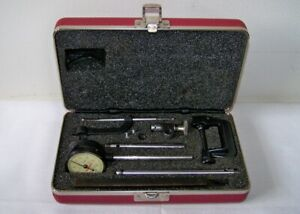 Starrett No 645 Machinist Tool Makers Rear Plunger Dial Indicator Set W case