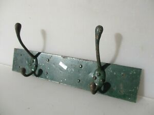 Antique Iron Coat Rack Hat Hangers Hooks French Reclaim Old Vintage 15 W