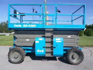 2010 Genie Gs4390rt 43 Rough Terrain Scissor Lift Manlift 43ft Platform Lift