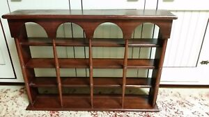 Vintage Solid Wood Mid Century 4 Tier Wall Or Standing Shelf 30 W X 22 H