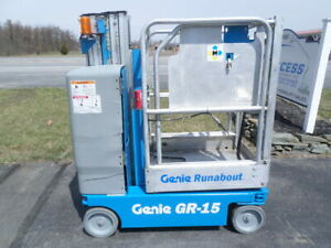 2008 Genie Gr 15 Personal Runabout Aerial Work Platform Gr15 Single Man Lift