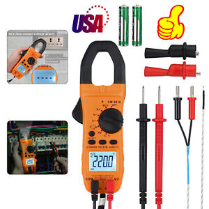 6000counts Digital Clamp Meter Multimeter Ac dc Volt True Trms Auto range Tester