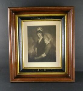 Antique Victorian Walnut Shadow Box Picture Frame Takes 8 X 10 Pic