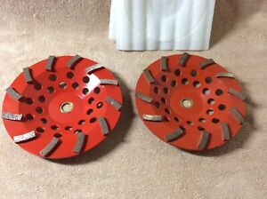 Concrete Grinder Grinding Wheels 7 Set Of 2 One New One Lightly Used In Box