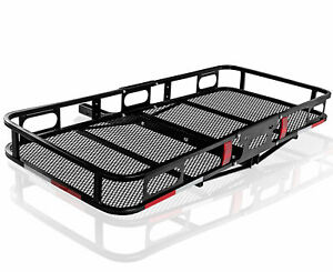 Oxgord Universal Auto Steel Rear Hitch Mount Carrier Basket For Cars Trucks Suv