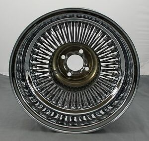 Wicked Wires Reverse 80 Spoke 15 Chrome 4x100 Wheel Rim Part 578021 New