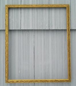 Antique Art Crafts Mission Picture Frame Gold Gilt W Shadow Black Finish 14 X 17
