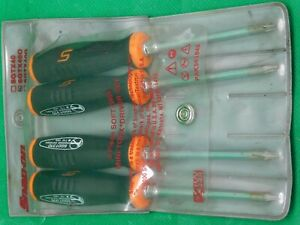 Snap On Sgtx 40o Orange Black Mini Soft Grip Handle Torx Screwdrivers 4 Pcs