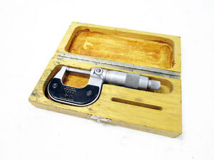 Tesa Group 0 1 Outside Micrometer 1 Locking Swiss Made With Case