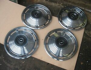 4 Never Used 1966 Chevy Chevelle Hubcaps Bought Car In 66 Took Off Hubcaps