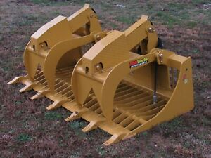 72 Extreme Duty Rock Bucket Grapple W Teeth Skid Steer Attachment Ship 199