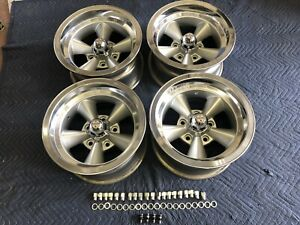 4 Vintage Polished Lip 15x8 5 Appliance Torque Thrust 5on5 C 10 Chevy Van