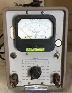 Vintage Industrial Hp Model 400d Vacuum Tube Voltmeter 115 Volts Parts Only