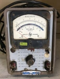 Vintage Industrial Hp Model 400 Vacuum Tube Voltmeter 115 Volts Parts Only